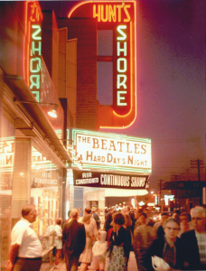A Hard Day's Night at the Shore Theater in Wildwood, during the summer of 1964.