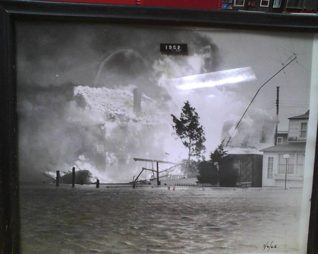 Fire during 62 Flood