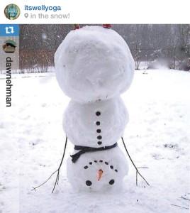 Snowman yoga