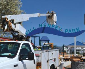 bill henfey park sign