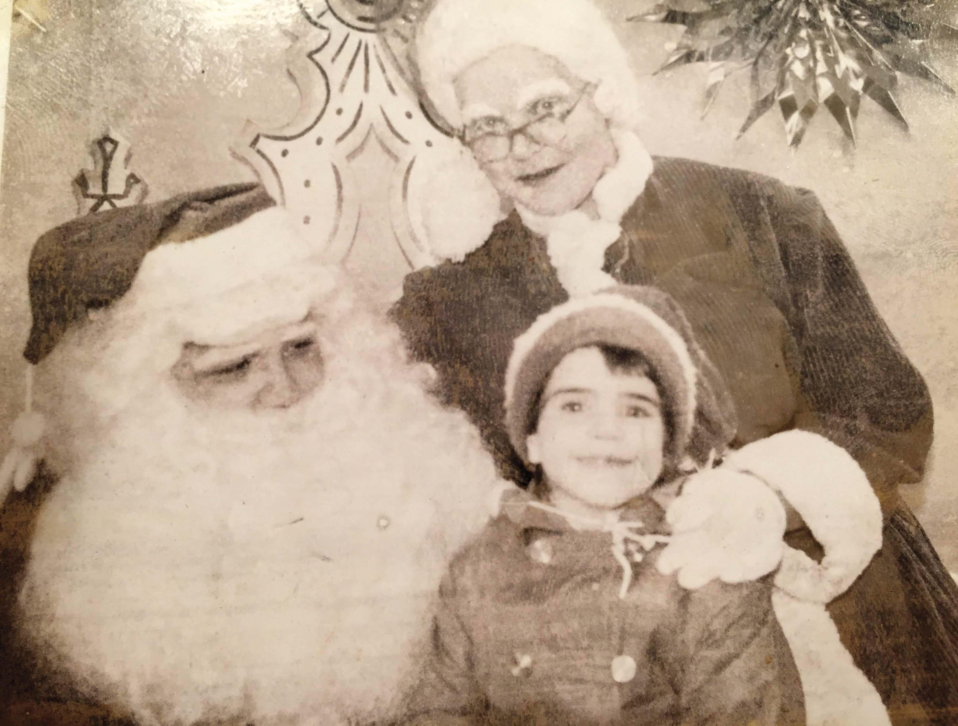 Donna Gomez on the Santa bus, 1960