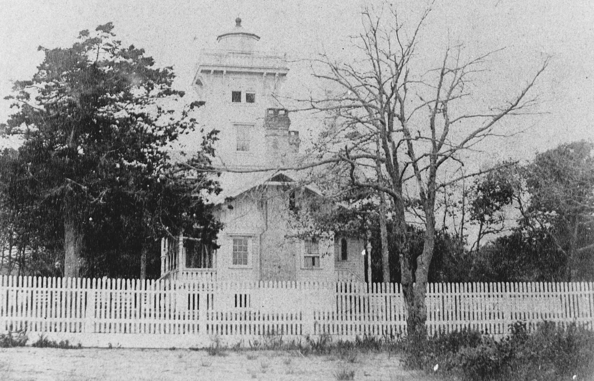 The first known photo of Hereford Inlet Lighthouse, c. 1874